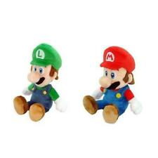 "Little Buddy Mario Plush Doll Set Of 2 8"" Mario & Luigi Toy Play MYTODDLER New"