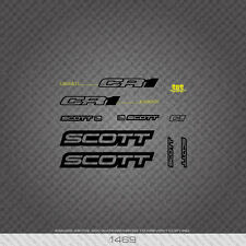 01469 Scott CR1 Bicycle Stickers - Decals - Transfers - Black