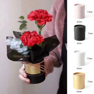 Single flower round flower shop box flower box mini gift box holding bucket box