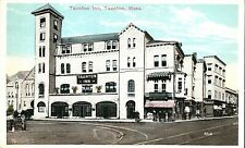 New listing Postcard Taunton,Ma,Taunton Inn,Haitian Room,Herring Run,1900s,Now Marion Manor