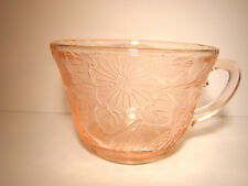 Depression Glass Pink Cup(s) MacBeth Evans Dogwood Pattern Mint Condition @10
