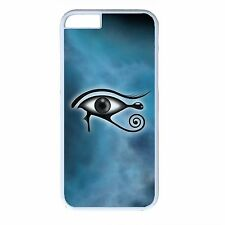 For iPhone 4s 5s 5c 6 6s Plus White Case Cover Illuminati Horus Eye Spiritual