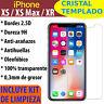 Cristal Templado Protector De Pantalla Para iPhone X XS XS Max XR 8 7 6 Vidrio