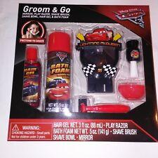 Cars Groom and Go Kids Bath Set Gift Shaving Kit 6 Piece Lightening McQueen