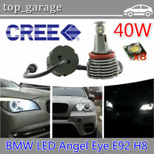 80W Total H8 CREE BMW LED Angel Eyes Halo Ring Bulbs 6000k White for E90 E92 E93
