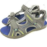 Merrell Boys Size 7 M Gray Sport Sandals Panther Waterproof Shoes Youth Big Kids