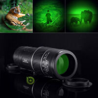 Day/Night Vision 40X60 Zoom Monocular Hunting Camping Telescope Waterproof w/Bag