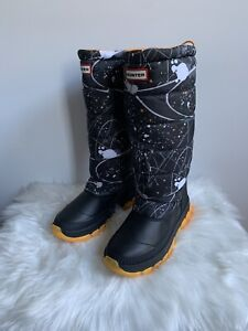 Hunter Insulated Abstract Print Snow Boots Winter Womens 7 NEW