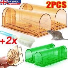 More details for 2pcs mouse trap humane live catcher rat vermin rodent cage pest no kill reusable