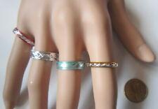 Lote 4 anillos aluminio colores nº 8 ó 17 mm diámetro medio bisutería r-28