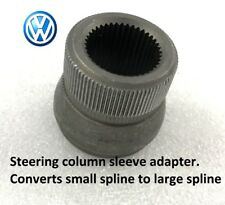 Genuine VW OEM steering column sleeve, small to large spline adapter.  377419514