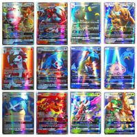 100Pcs Pokemon Flash Card Lot 95 GX + 5 MEGA Flashing Trading Cards Pop Gift