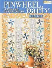 PINWHEEL PARTY quilt pattern book by Ellen Paul fun unique quilts new