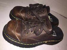 Doc Dr Martens Women's Size 5 Brown Leather Mule Clogs Slip On Made in England
