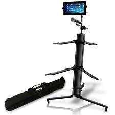 Pyle PKS75 Dual Tier Keyboard/Piano Stand with Microphone & Tablet Mount Holders
