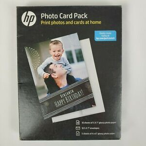 HP Inkjet Printer Glossy Photo Card Picture Paper Pack / NEW (SF791A)