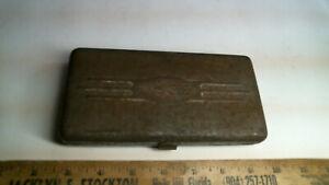 """1940 Craftsman BE H-circle 1/4"""" socket set clamshell case antique vintage old"""