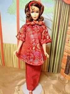 Vintage Mattel Brunette Marlo Flip Barbie in Vintage Red Japan Twist n Turn
