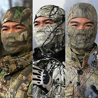 Camouflage Full Face Mask Tactical Military Balaclava Helmet Hats Motorcycle Cap