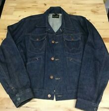 Wrangler Vintage Denim Jacket 70's USA Made Indigo Size 40 Worn never washed