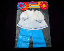 Vintage Premier Doll Clothes Top & Pants Set White & Blue NIP New in Package
