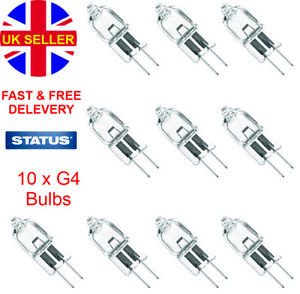 10x G4 Halogen Bulbs Capsule Dimmable 12v 10w 100 lm 2000 hours life Warm White