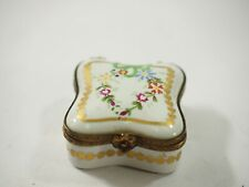 Limoges France Peint Main Hand-Painted Porcelain Hinged Box Signed