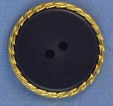 25mm Navy / Gold Shank Button