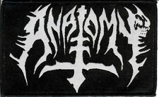 Anatomy logo Patch Death Metal Abominator Destroyer 666 Gospel Of The Horns