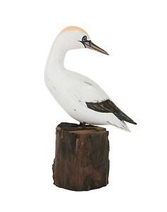 ARCHIPELAGO Hand Carved Wooden Birds - Gannet Preening Small