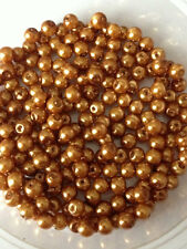 4mm Glass faux Pearls - Golden Bronze (200 beads)