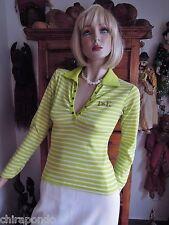 Pullover grün apfelgrün weiß Gr. 38 Straßlogo D&K stretchig klasse Sommermodell