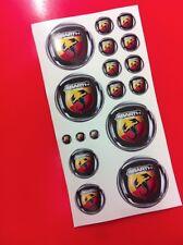 17 Adhesivos Etiqueta engomada Fiat varios tamaños Abarth