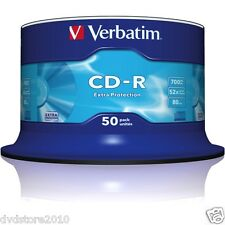 200 CD -R 80 min VERBATIM vergini vuoti Datalife STOCK