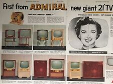 Vintage 1954 Admiral Giant 21 Inch TV Advertising Printed Robot Chassis Ad