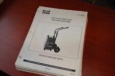 AIRCO ARC 150 DC HELIWELDER Welding Machine Owner Operator Parts Manual book