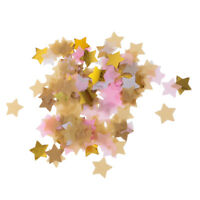 Gold Pink Paper Stars Sprinkle Balloon Confetti Wedding Throwing Confetti