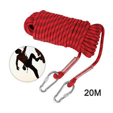 20m Tree Rock Climbing Rope 12mm Outdoor Mountain Safety Rescue Auxiliary Cord