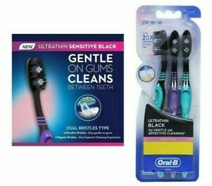 Oral-B ULTRATHIN BLACK SENSITIVE TOOTHBRUSH (EXTRA SOFT) -3PC PACK