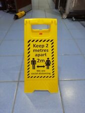 A Frame Warning Sign Floor Sign Social Distancing Keep 2 Metres Apart Sign