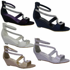 Strappy, Ankle Straps Standard (D) Wedge Heels for Women