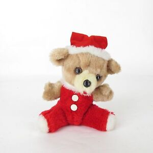 Vtg Christmas Plush Jolly Russ Berrie & Co.Inc Santa Baby Teddy Bear 1978