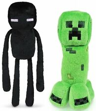 "Set of 2 Minecraft Stuffed Plush 8"" Creeper Enderman Gift Licensed Jazware Xmas"