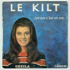 """SHEILA 45 tours 7"""" EP Le KILT - LES PAPILLONS 16é Disque CARRERE 437383 F Reduit"""