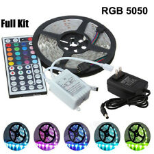 5M RGB Waterproof LED Strip Light 5050 SMD 300 LEDs 44 Key Remote 12V Lights Kit