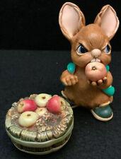 Pendelfin Rabbit Scrumpy W/ Apple Barrel made In England W/ Box New Old Stock