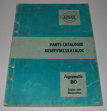 Parts Catalog Reservdelskatalog Volvo Penta Aquamatic 80 Engine unit Motorenhet!