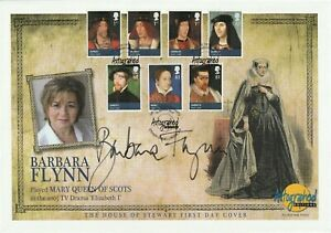 23 MARCH 2010 HOUSE OF STEWART FDC HAND SIGNED BY ACTOR BARBARA FLYNN SHS