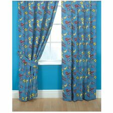 "Childrens Power Rangers Curtains 66"" x 54"" Ready Made Cotton Pair of Curtains"