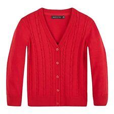Debenhams Kids Girls' Red Cable Knit Cardigan Age 6-7